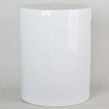 XY16-IW3349   景德镇  全白陶瓷凳  凉墩   浴室凳