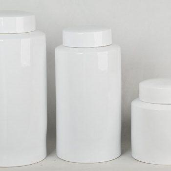 XY16-IW3417   景德镇  全白  大中小号储物罐 茶叶罐  茶叶末