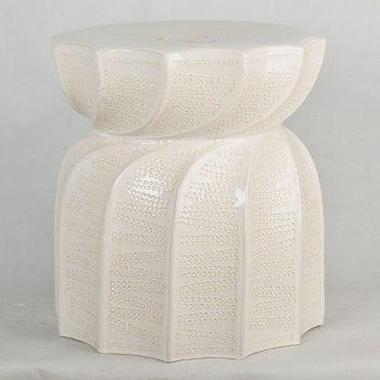 XY16-NB3424  莲花多角出口品质中高温色釉陶瓷凳花园凳厂家直销盛江陶瓷
