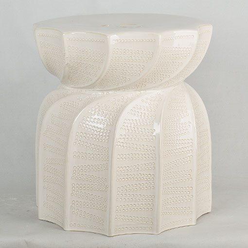 莲花多角出口品质中高温色釉陶瓷凳花园凳厂家直销盛江陶瓷