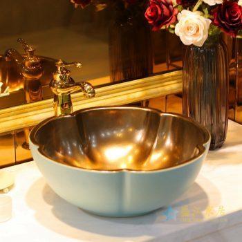 LT-1607-06 景德镇 哑光绿金属釉 洗脸盆 台上盆 陶瓷盆 厂家直销