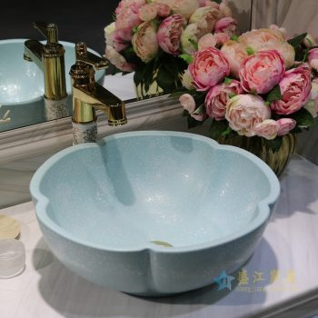 LT-1607-08   景德镇  哑光绿堆白波西米亚   洗脸盆 台上盆 陶瓷盆 厂家直销
