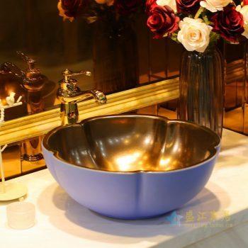 LT-1607-17   景德镇  外蓝里金属   台上盆 洗手盆 陶瓷盆 特价促销