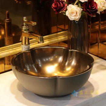LT-1607-29   景德镇  咖啡色金属釉    洗脸盆 台上盆 陶瓷盆 厂家直销