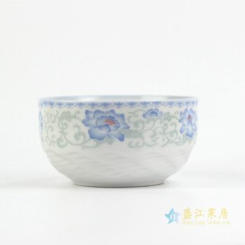 RYJZ17    景德镇青花陶瓷碗 4.5英寸家用米饭碗面碗汤碗青花瓷餐具送礼