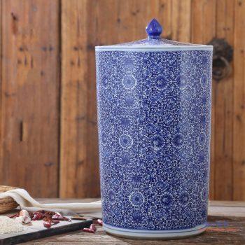 RZAP05-B    景德镇青花瓷陶瓷米缸油缸20斤50斤100斤带盖水缸米桶泡菜缸防潮  厂家直销