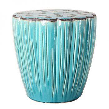 XY16-0709-4   景德镇 蓝色中高温破坏仿古做旧古典中高温陶瓷凳简约美式厂家直销