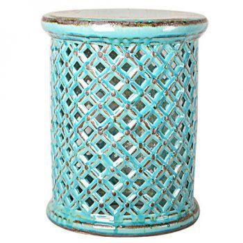 XY16-0709-5     景德镇 中高温破坏仿古做旧古典镂空陶瓷凳简约美式厂家直销