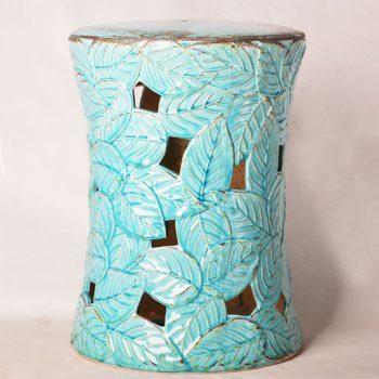XY16-0709-6 (57)    景德镇 中高温破坏仿古做旧古典镂空陶瓷凳简约美式厂家直销