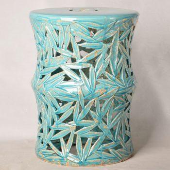 XY16-0709-6 (68)    景德镇 镂空中高温陶瓷凳鼓凳瓷墩室内外客厅卧室洗手间