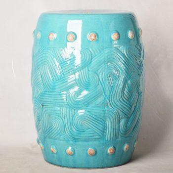 XY16-0709-6 (72)   景德镇 圆形瓷墩中高温色釉陶瓷凳室内室外摆设淘宝代发