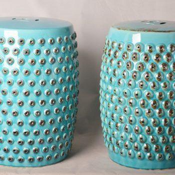 XY16-0709-6 (76)   景德镇 中高温破坏仿古做旧古典镂空陶瓷凳简约厂家直销