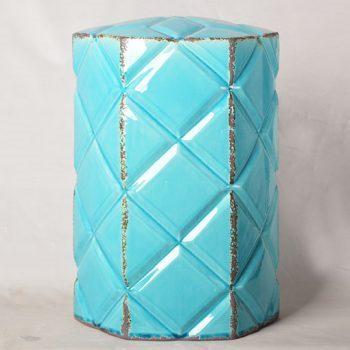 XY16-0709-6 (81)     景德镇 棱形多边形瓷墩中高温色釉陶瓷凳室内室外摆设