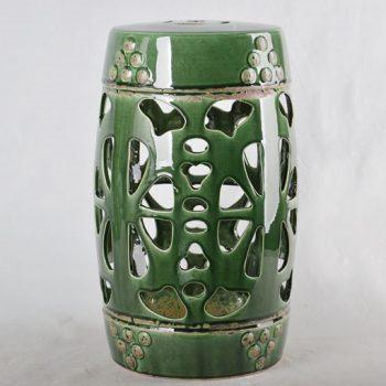 XY16-0709-7 (12) 景德镇 陶瓷凳子瓷墩花园凳中高温色釉镂空厂家直销