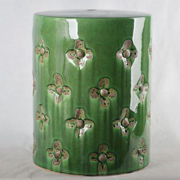XY16-0709-7 (29)     景德镇 绿色花朵形中高温破坏仿古做旧古典中高温陶瓷凳简约美式厂家直销