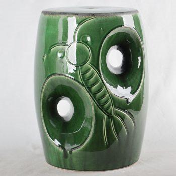 XY16-0709-7 (31)    景德镇 绿色卡通形中高温破坏仿古做旧古典中高温陶瓷凳简约美式厂家直销