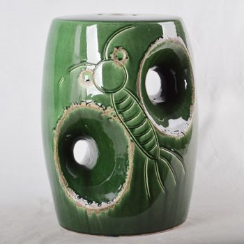 XY16-0709-7 (36)   景德镇 绿色卡通形中高温破坏仿古做旧古典中高温陶瓷凳简约美式厂家直销