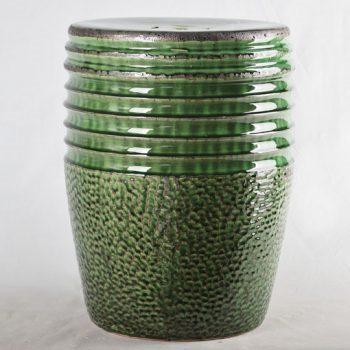 XY16-0709-7 (48)    景德镇 绿色中高温破坏仿古做旧古典中高温陶瓷凳简约美式厂家直销