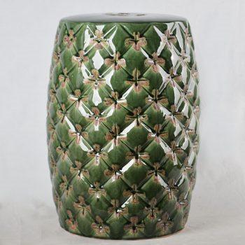XY16-0709-7 (5)   景德镇 中高温 花朵形做旧 陶瓷鼓凳 瓷墩 凉墩 卫浴凳子