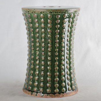 XY16-0709-7 (74)   景德镇 深绿色中高温破坏仿古做旧古典中高温陶瓷凳简约美式厂家直销