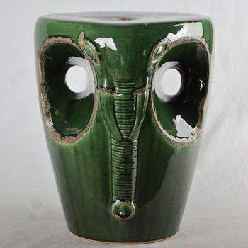 XY16-0709-7 (85)     景德镇 深绿色大象中高温破坏仿古做旧古典中高温陶瓷凳简约美式厂家直销