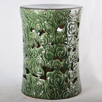 XY16-0709-7 (9)   景德镇 陶瓷凳子瓷墩花园凳中高温色釉镂空厂家直销