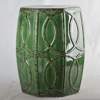 XY16-0709-7 (93)  景德镇 深绿色中高温破坏仿古做旧古典中高温陶瓷凳简约美式厂家直销