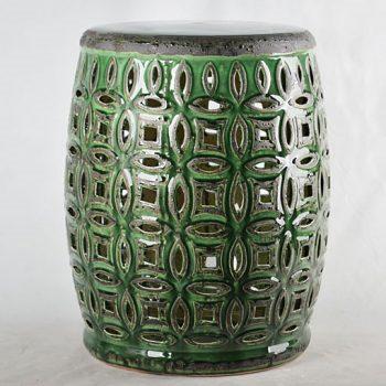 XY16-0709-7 (99)    景德镇 深绿色中高温破坏仿古做旧古典镂空中高温陶瓷凳简约美式厂家直销