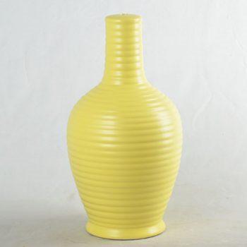 XY16-0709-8 (21)    景德镇  颜色釉  淡黄现代简约  陶瓷台灯底座 厂家直销