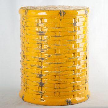 XY16-0709-8 (30)    景德镇  竹子形状中高温陶瓷凳厂家直销