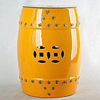 XY16-0709-8 (46)   景德镇 帝皇色铜钱高温破坏仿古做旧 中高温陶瓷凳简约美式厂家直销