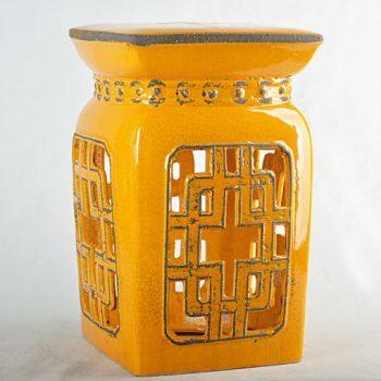 XY16-0709-8 (64)   景德镇 帝皇色中高温破坏仿古做旧古典镂空中高温陶瓷凳简约美式厂家直销