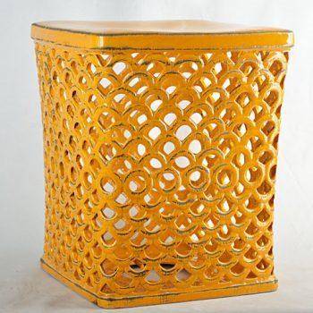 XY16-0709-8 (66)   景德镇  帝皇色中高温破坏仿古做旧古典镂空中高温陶瓷凳简约美式厂家直销
