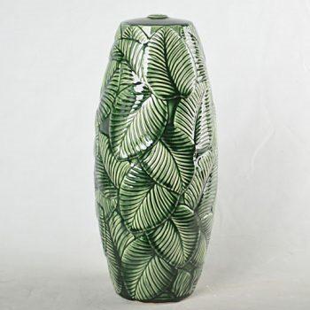 XY16-0709-8 (9)    景德镇 颜色釉树叶形 现代简约 陶瓷台灯底座 厂家直销