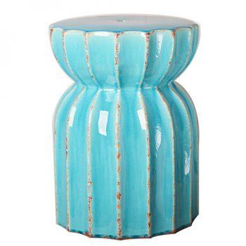 XY16-0709-df    景德镇 莲花多角出口品质中高温色釉陶瓷凳花园凳厂家直销