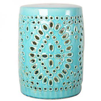 XY16-0709-f 景德镇 中高温破坏仿古做旧古典镂空陶瓷凳简约厂家直销
