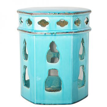 XY16-0709-fhj    景德镇 中高温破坏仿古做旧古典镂空陶瓷凳简约厂家直销