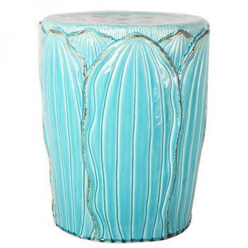 XY16-0709-h   景德镇 出口品质中高温色釉陶瓷凳花园凳厂家直销