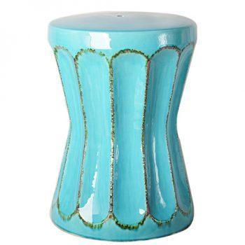 XY16-0709-i   景德镇  出口品质中高温色釉陶瓷凳花园凳厂家直销