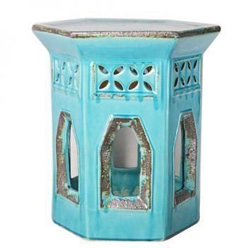 XY16-0709-ks   景德镇  中高温破坏仿古做旧古典镂空中高温陶瓷凳简约美式厂家直销