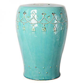 XY16-0709-m    景德镇 圆形瓷墩中高温色釉陶瓷凳室内室外摆设淘宝代发
