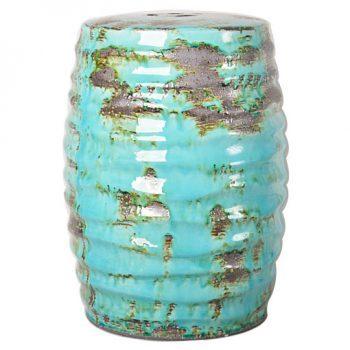XY16-0709-mnb    景德镇   圆形瓷墩中高温色釉陶瓷凳室内室外摆设淘宝代发