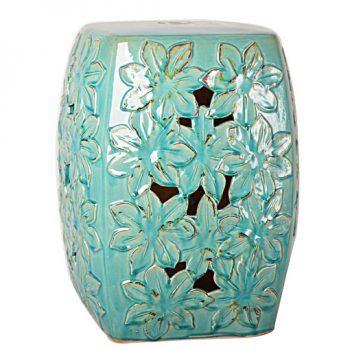 XY16-0709-n    景德镇 方形 中高温破坏仿古做旧古典镂空陶瓷凳简约美式厂家直销
