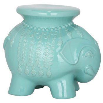 XY16-108    景德镇 中高温色釉大象凳子 凉墩 陶瓷凳 厂家直销