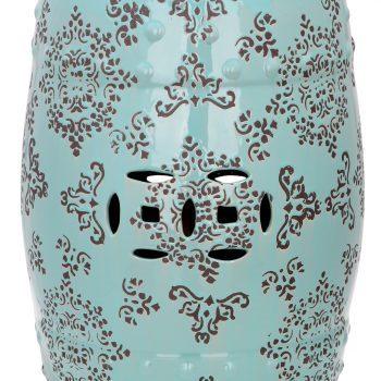 XY16-116 景德镇 经典传统铜钱凳  中高温陶瓷色釉瓷墩厂家直销