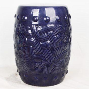XY16-3299    景德镇 圆形瓷墩中高温色釉陶瓷凳室内室外摆设淘宝代发