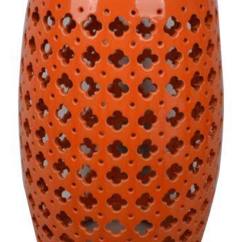 XY16-432 景德镇 陶瓷凳子瓷墩花园凳中高温色釉镂空厂家直销