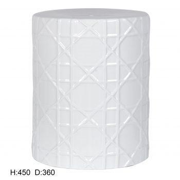 XY16-CXC001   景德镇 陶瓷 雕刻 瓷凳 凉墩 凳子 家居工艺