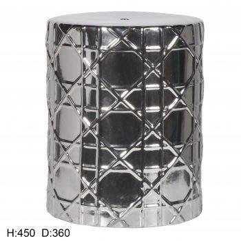 XY16-CXC002   景德镇 陶瓷 镀银 瓷凳 凉墩 凳子 家居工艺