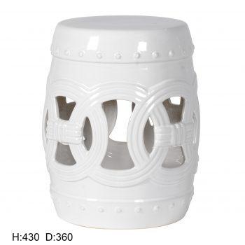 XY16-CXC003    景德镇 镂空中高温色釉陶瓷凳厂家直销